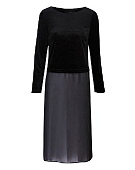 Joanna Hope Velour Trim Longline Tunic