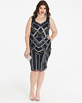 Joanna Hope Beaded Shift Dress