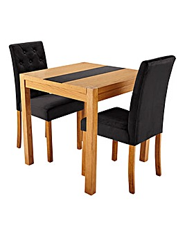 Oakham Glass Panel Table 2 Grace Chairs