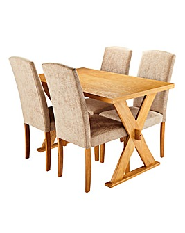 Norfolk Rectangle Table 4 Ava Chairs