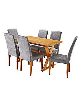 Norfolk Large Table 6 Ava Chairs