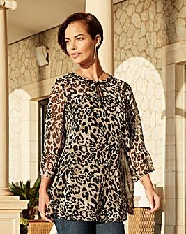 Joanna Hope Animal Print Blouse