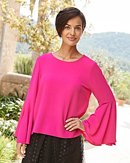 Joanna Hope Frill Sleeve Blouse
