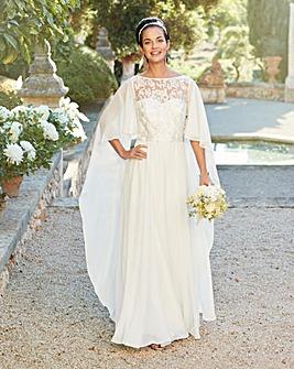 Joanna Hope Cape Bridal Dress