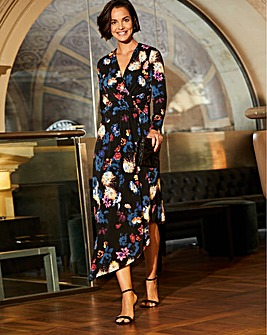 Joanna Hope Print Asymmetric Hem Dress