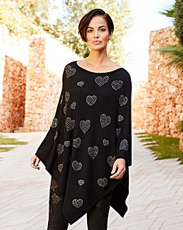 Joanna Hope Sequin Poncho
