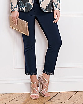 Together Lace Hem Trousers