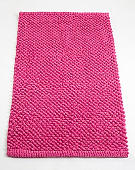 Cotton Bobble Bath Mats - Cerise