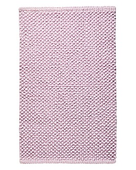 Cotton Bobble Bath Mats - Mauve