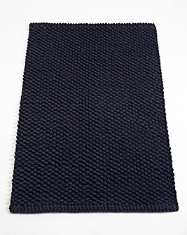 Cotton Bobble Bath Mats - Navy