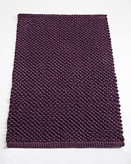 Cotton Bobble Bath Mats - Grape