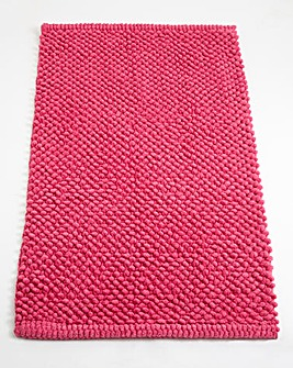 Cotton Bobble Bath Mats - Raspberry