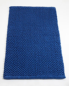 Cotton Bobble Bath Mats - Royal Blue