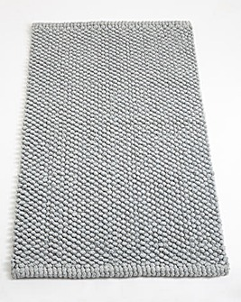 Cotton Bobble Bath Mats - Cool Grey
