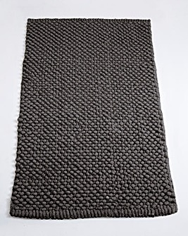 Cotton Bobble Bath Mats - Steel Grey