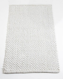 Cotton Bobble Bath Mats - White