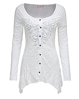Joe Browns Lace Applique Crinkle Blouse