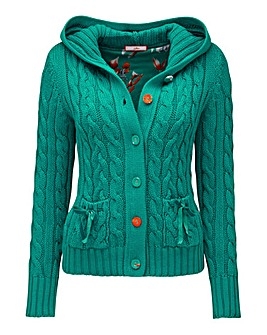 Joe Browns Cable Hooded Cardigan