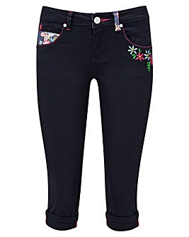 Joe Browns Embroidered Capri Trousers