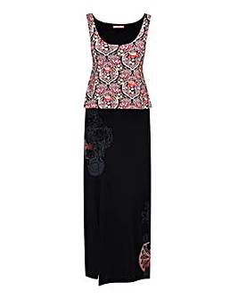 Joe Browns Double Layer Print Maxi Dress