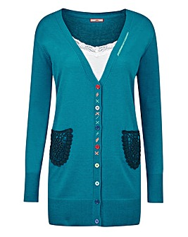 Joe Browns Crochet Pocket Cardigan