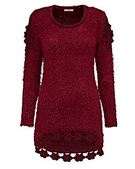 Joe Browns Fluffy Jumper with Crochet