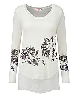 Joe Browns Double Layer Print Jumper