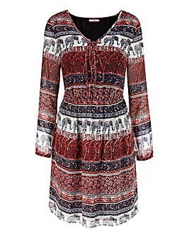 Joe Browns Lace Up Detail Print Tunic