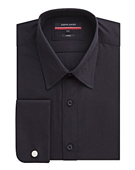 Pierre Cardin Black Poplin Shirt