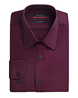 Pierre Cardin Wine Oxford Shirt