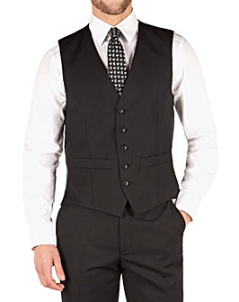 Pierre Cardin Black Twill Waistcoat