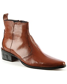 Gucinari Tan Pointed Toe Ankle Boot