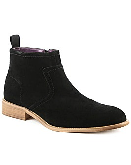 Gucinari Black Suede Ankle Boot