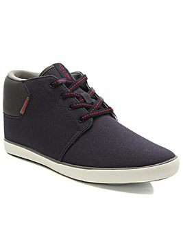 Jack Jones Navy Fabric High Top Trainer