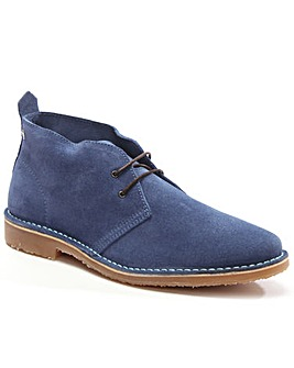 Jack Jones Navy Suede LaceUp Desert Boot