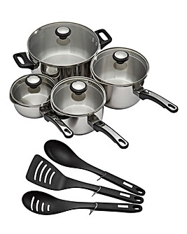 Prestige 4pc Pan Set with free Utensils