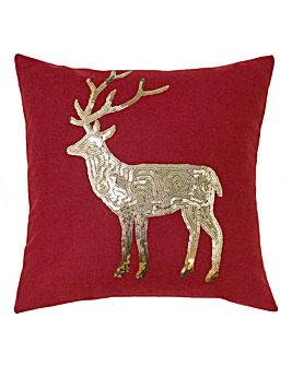 Sequin Stag Cushion