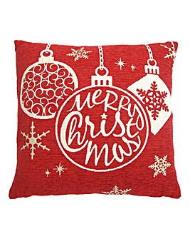 Christmas Bauble Cushion