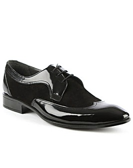 Gucinari Black Panelled Dress Shoe