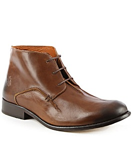 Fly London Tan Leather Ankle Boot