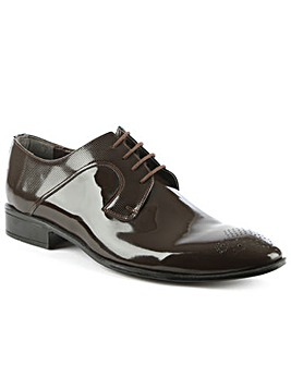 Gucinari Brown Gloss Leather Dress Shoe