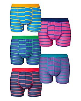 Capsule Stripe Pack of 5 Hipsters