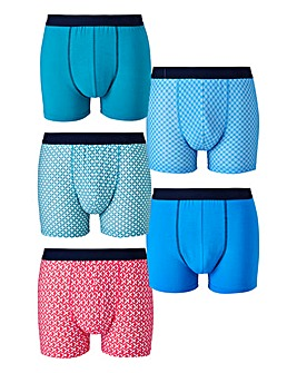 Capsule Geo Print Pack of 5 Hipsters