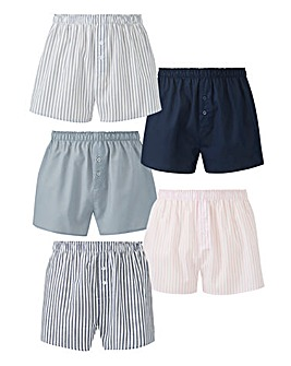 Capsule Stripe Pack of 5 Woven Boxers