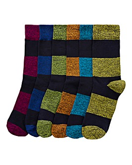Capsule Pack of 6 Rugby Stripe Socks