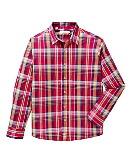 W&B Red Long Sleeve Check Shirt R