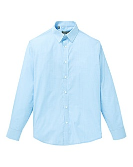W&B London Blue Check L/S Shirt R