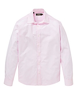 W&B London Pink Stripe L/S Shirt L