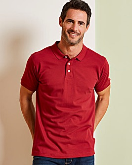 Capsule Burgundy Short Sleeve Polo L