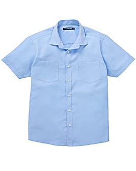 Premier Man Blue S/S Check Shirt R
